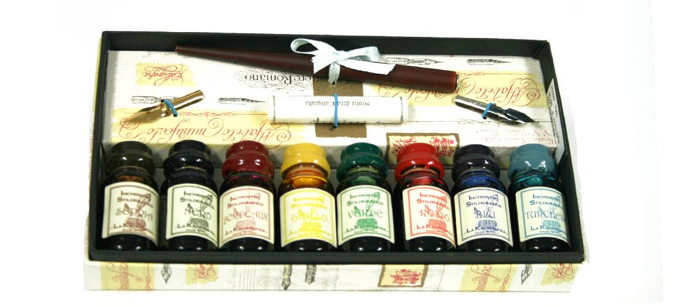 Set de pluma y tintas para los aficionados a la pintura de plumilla - omprar online precio 35€ euros