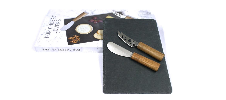 Set para quesos tabla y cuchillos ¡imprescindibles! - comprar online precio 35€ euros