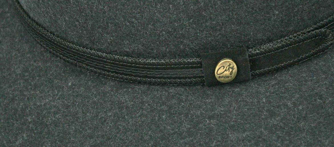Sombrero enrollable e impermeable 100% lana color azul grisaceo - Solohombre