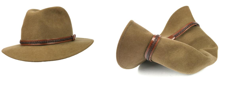 Detalles. Sombrero enrollable e impermeable 100% lana - comprar online  precio 69€ euros 7cadc97e3e44