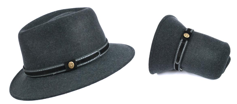 Sombrero enrollable e impermeable 100% lana- comprar online precio 75€ euros