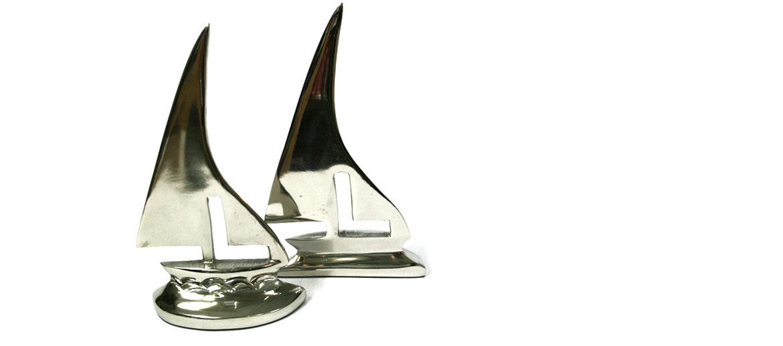 Sujeta libros metal barco velero - comprar online precio 56€ euros