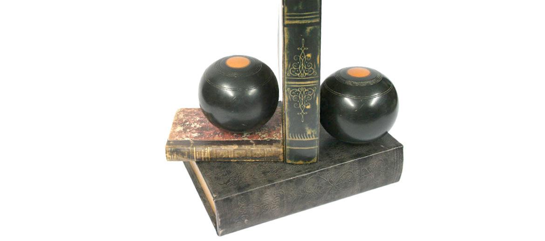 Sujeta libros bola antigua para el juego de Bowls - comprar online precio 55€ euros