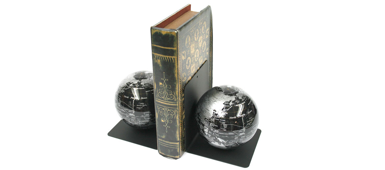 Sujeta libros globo terráqueo para tu librería - comprar online precio 83€ euros