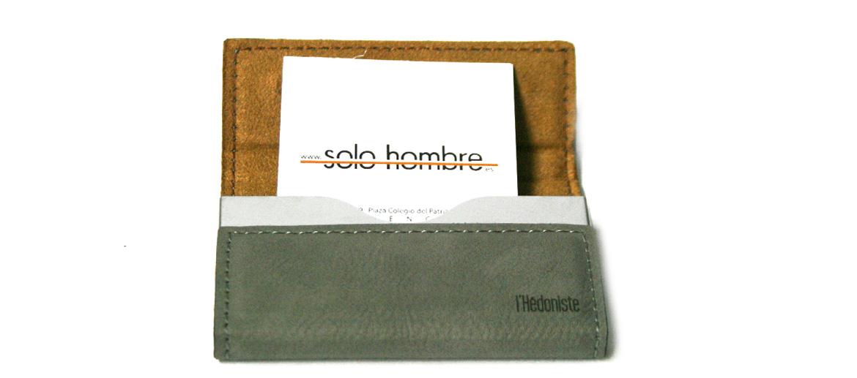 Tarjetero para tarjetas de visita símil piel - comprar online precio 15€ euros