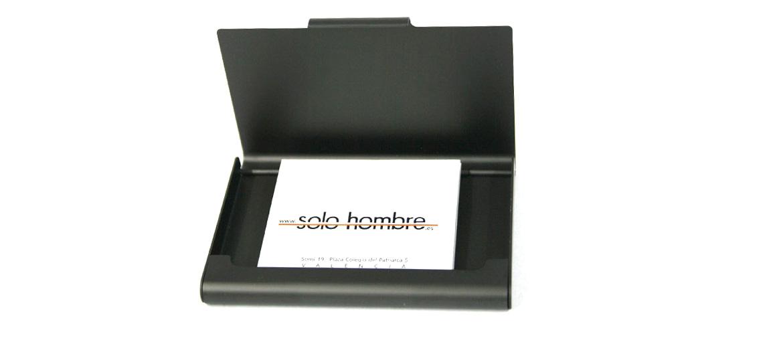 Tarjetero en aluminio para tarjetas de visita - comprar precio 15€ euros
