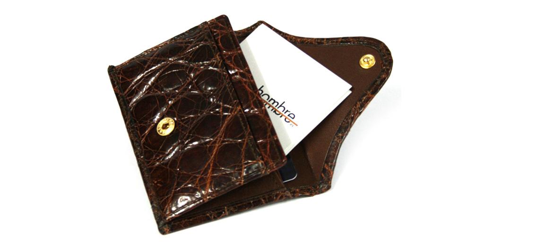 Tarjetero para tarjetas de visita o crédito de autentica piel de cocodrilo - comprar online precio 190€ euros
