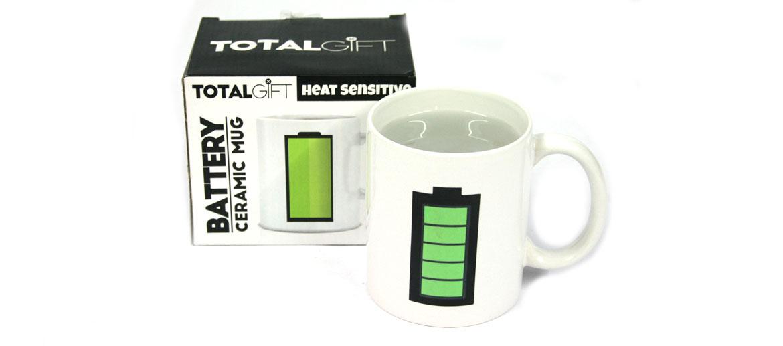 Taza inteligente de café con avisador de temperatura - comprar online precio 12€