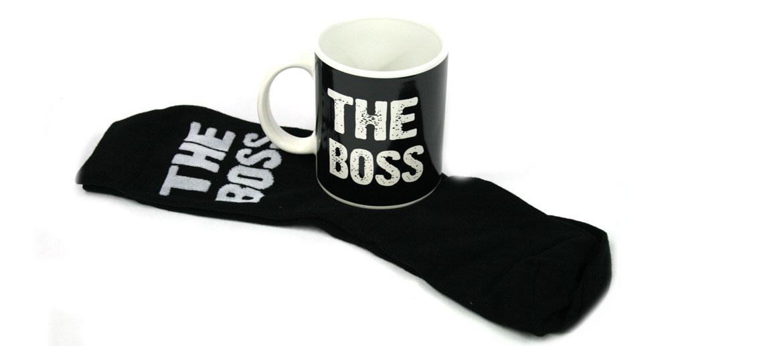 Taza para café The Boss ¡El Jefe! con calcetines a juego - comprar online precio 15€ euros