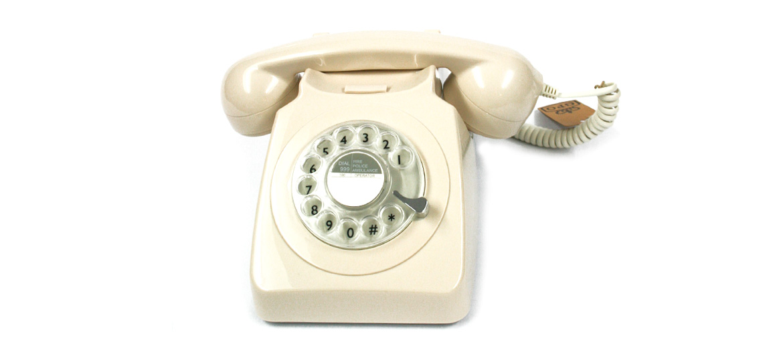 Telefono de mesa réplica antigua color beige - comprar online precio 90€ euros