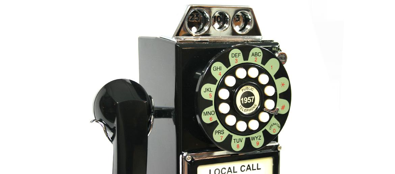 Teléfono de pared con monedas replica antigua - comprar online precio 125€ euros