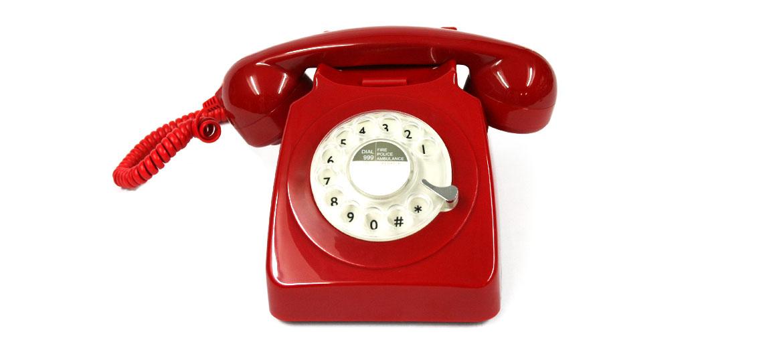 Teléfono de sobremesa retro replica antigua color rojo - comprar online precio 115€ euros