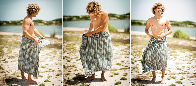 Pareo toalla de rayas verticales para la playa o piscina - comprar online precio 20€ euros