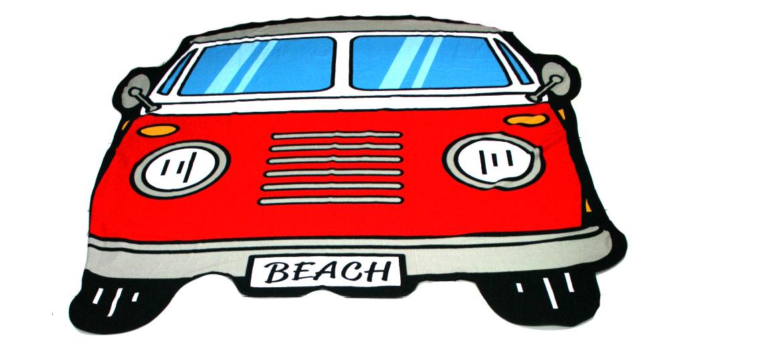 Toalla de playa o piscina ¡divertida! con furgoneta wolkswagen - comprar online precio 35€ euros
