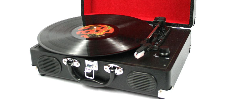 Tocadiscos retro con maleta para vinilos - Comprar Online Precio 139€ euros