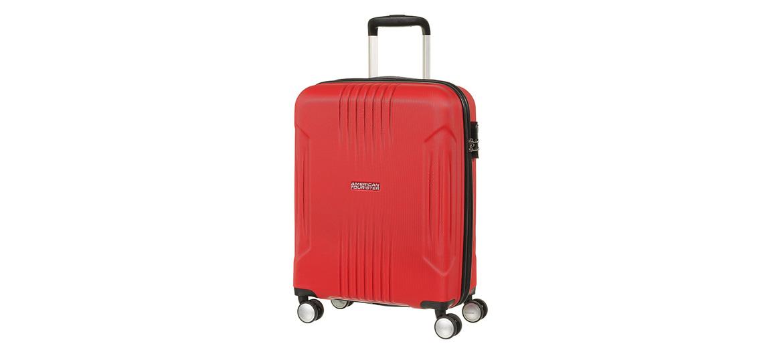 Trolley de cabina color rojo marca American tourister - comprar online precio 99€ euros