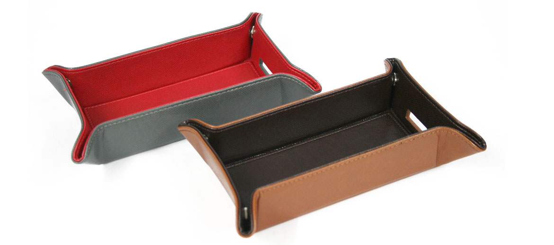 Vacía bolsillos rectangular pequeño de polipiel - comprar online precio 24€ euros