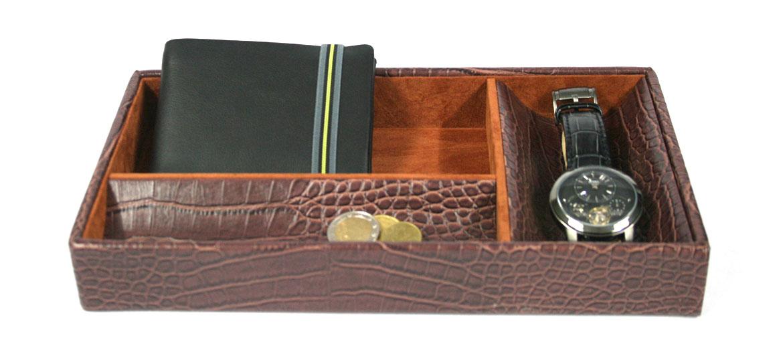 Vacía bolsillos rectangular con compartimentos - comprar online precio 32€ euros
