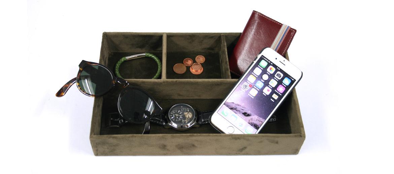 Vacía bolsillos rectangular con compartimentos - comprar online precio 29€ euros
