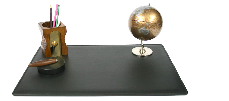 Vade carpeta de escritorio sencilla de polipiel negra - comprar online precio 60€ euros