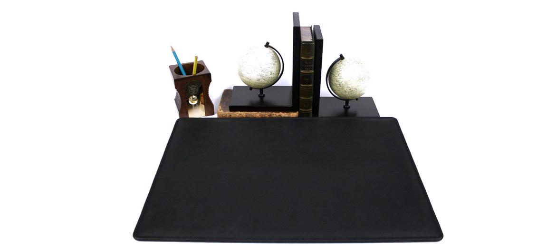 Vade carpeta de escritorio sencilla de símil piel negra - comprar online 105€ euros
