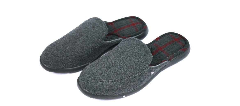 Zapatillas de estar por casa destalonadas con forro escoces - comprar online precio 35€ euros