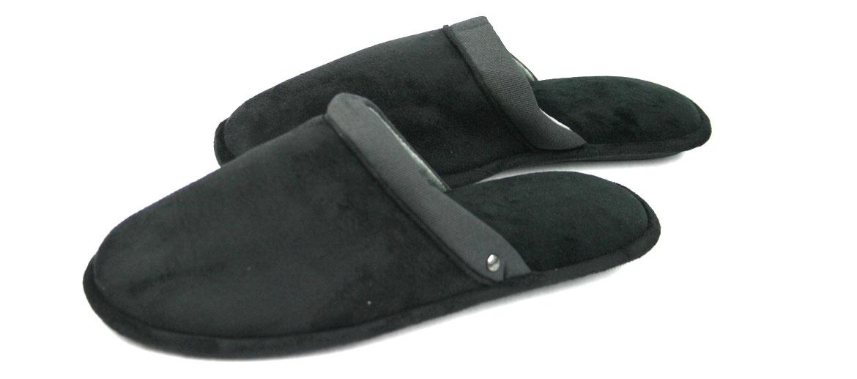 Zapatillas de estar por casa destalonadas color negro - comprar online precio 41€ euros