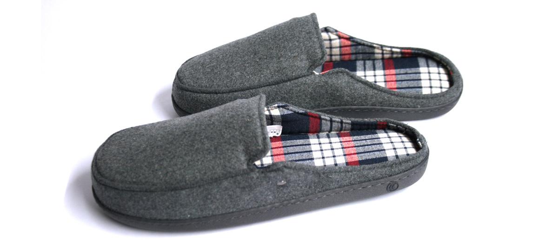 Zapatillas de estar por casa destalonadas con forro escoces - comprar online precio 29€ euros