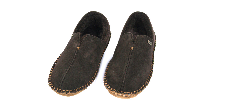 Zapatillas de estar por casa cerradas de ante con forro - comprar online precio 59€ euros