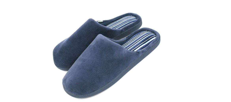 Zapatillas de estar por casa de invierno destalonadas color azul - Solohombre