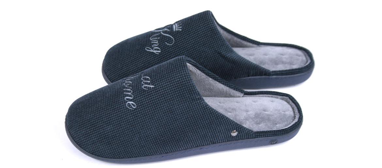 Zapatillas de estar por casa destalonadas color azul - comprar online precio 28€ euros