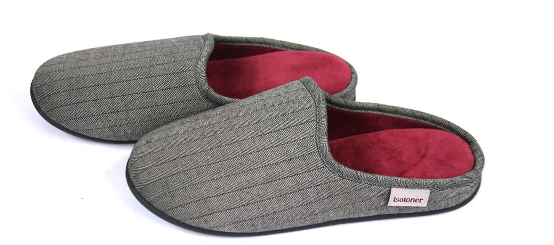 Zapatillas de estar por casa destalonadas con dibujo príncipe de gales - comprar online precio 30€ euros