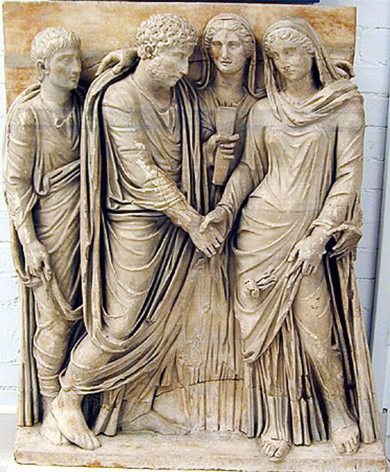 Casamiento entre romanos en la Roma antigua