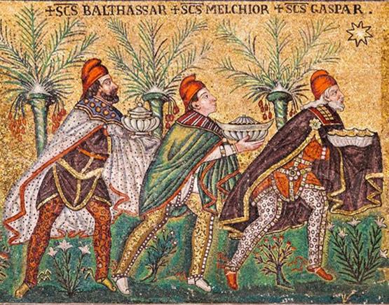 Detalle del mosaico de la Basílica de San Apolinar el Nuevo en Rávena